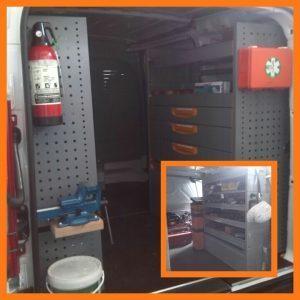 interno furgone officina movicar