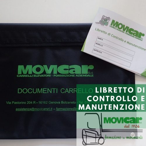 Libretto di controllo e manutenzione Movicar Carrelli Elevatori