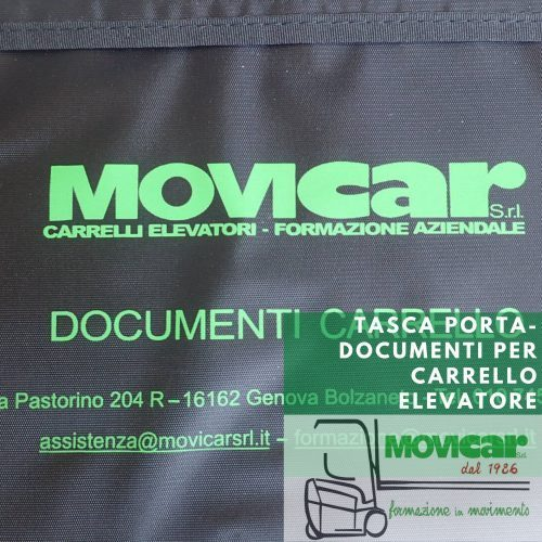Tasca porta-documenti per carrello elevatore disponibile online