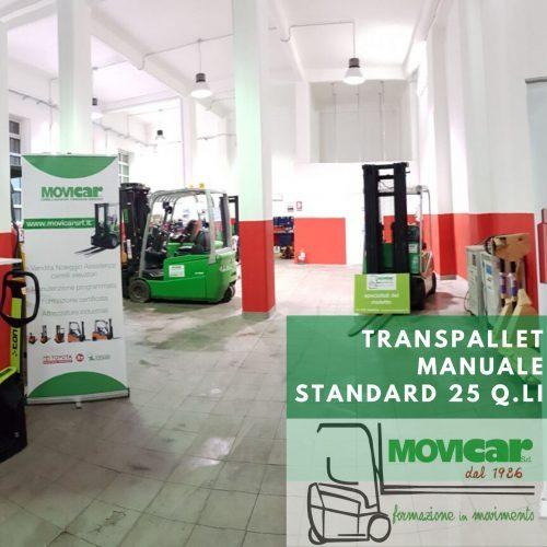 Transpallet manuale standard 25 q.li